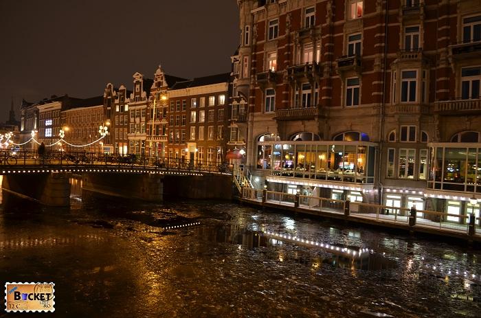 Amsterdam - peisaje de noapte canale