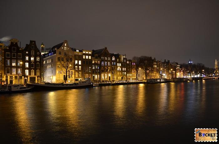 peisaje de noapte din Amsterdam
