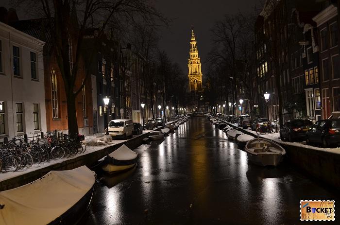 Amsterdam - beautiful winter night