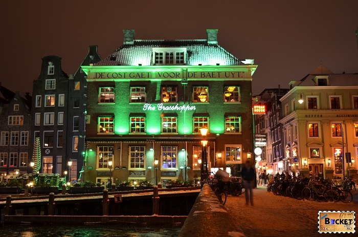 Peisaje de noapte - Coffeeshop grasshopper Amsterdam