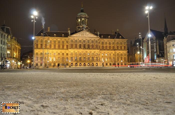 Amsterdam - peisaje de noapte - Royal Palace