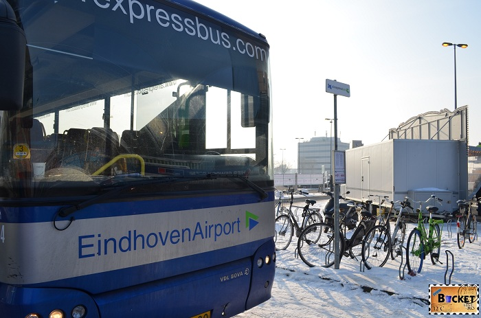 Shuttle bus aeroport Eindhoven - Amsterdam - plan de calatorie