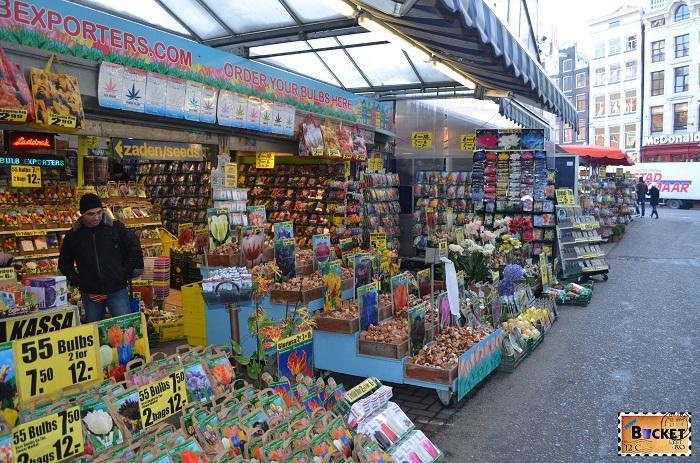 Bloemenmarkt, piaţa de flori din Amsterdam oferta