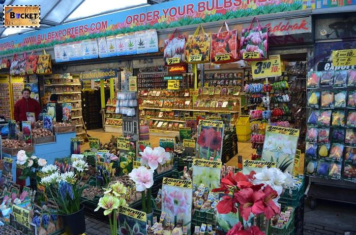 Bloemenmarkt, piaţa de flori din Amsterdam