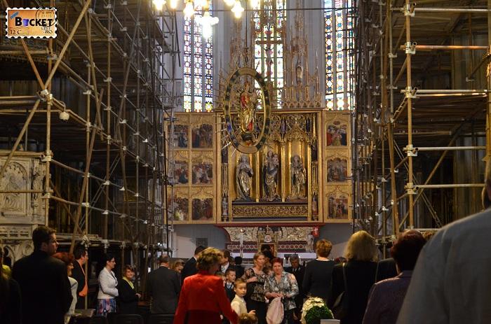 Catedrala Sf. Elisabeta Kosice, Slovacia - altarul Gotic