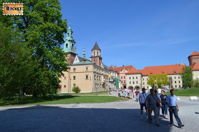 Castelul Wawel Cracovia -  curtea interioara