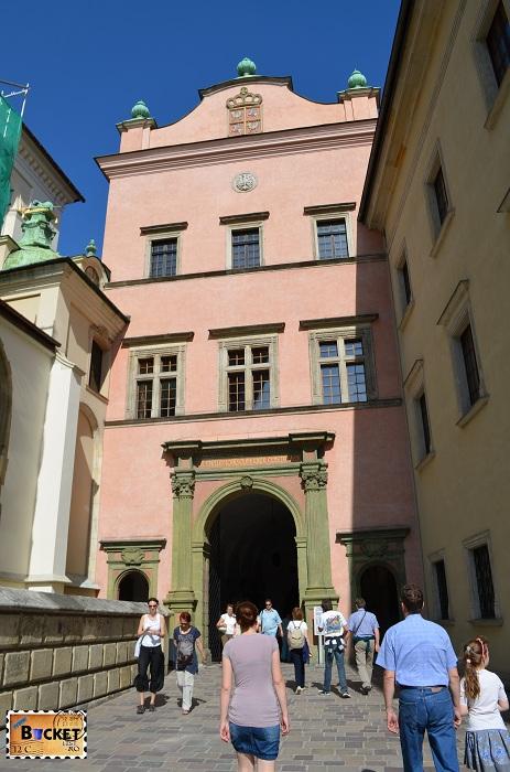 Castelul Wawel Cracovia -  poarta Bartolomeu Berrecci