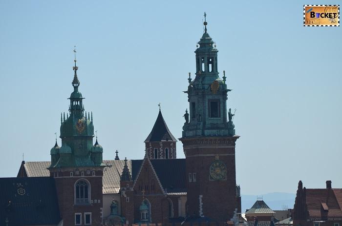 Castelul Wawel privit din turnul primariei - Cracovia