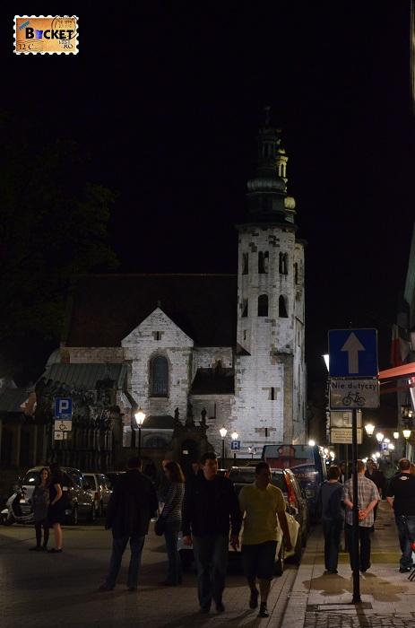 Cracovia - peisaje de noapte Biserica Sf Andrei