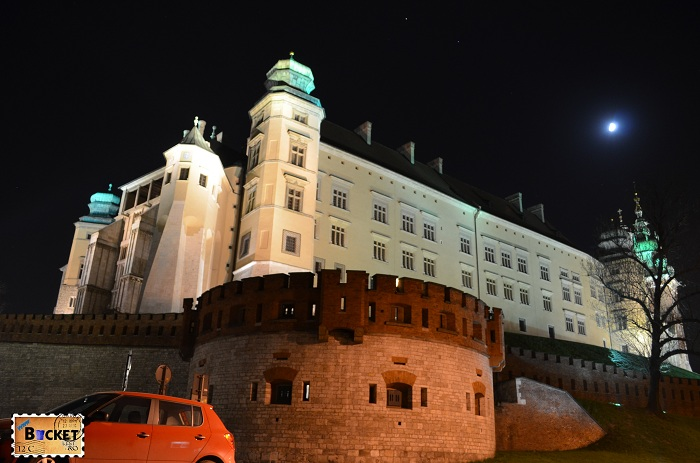 Cracovia - peisaje de noapte Castelul Wawel (1)