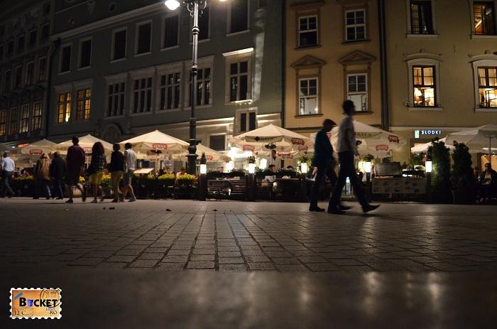 Cracovia - peisaje de noapte - Rynek Główny (1)
