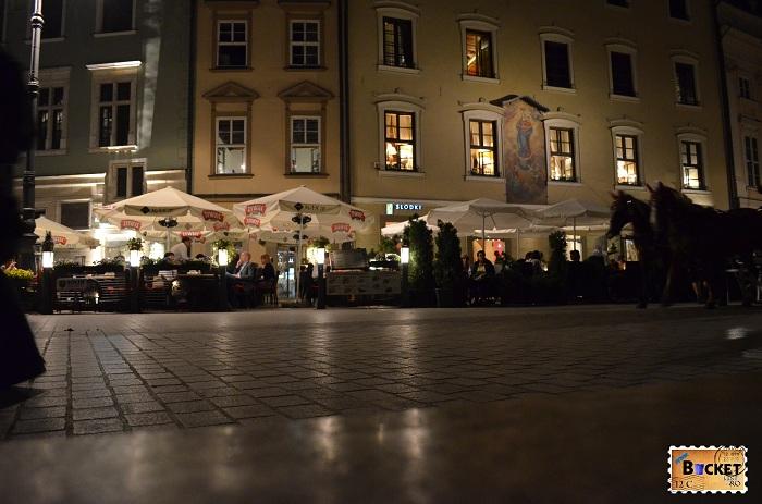 Cracovia - peisaje de noapte - Rynek Główny (2)