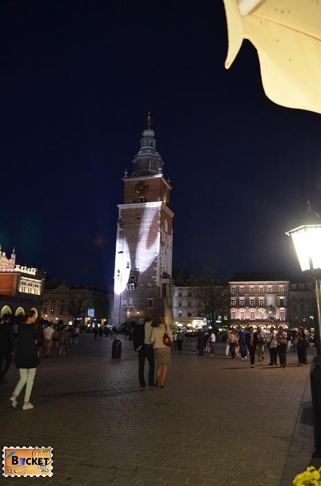 Cracovia - peisaje de noapte Turnul Primăriei (1)