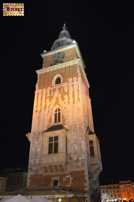 Cracovia - peisaje de noapte Turnul Primăriei (2)
