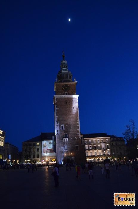 Cracovia - peisaje de noapte Turnul Primăriei (3)