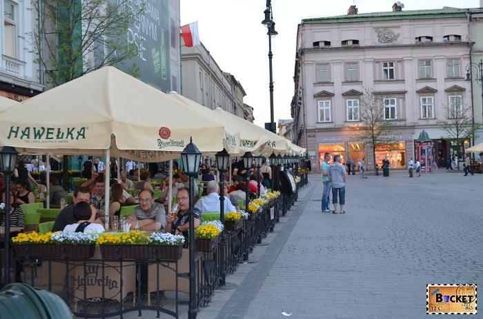 Terasa Hawelka - locul unde să mănânci în Cracovia