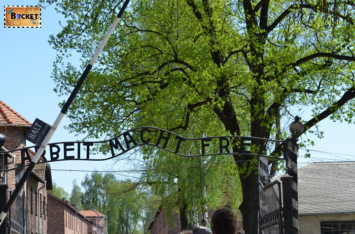 Auschwitz I  Arbeit Macht Frei - Munca te elibereaza