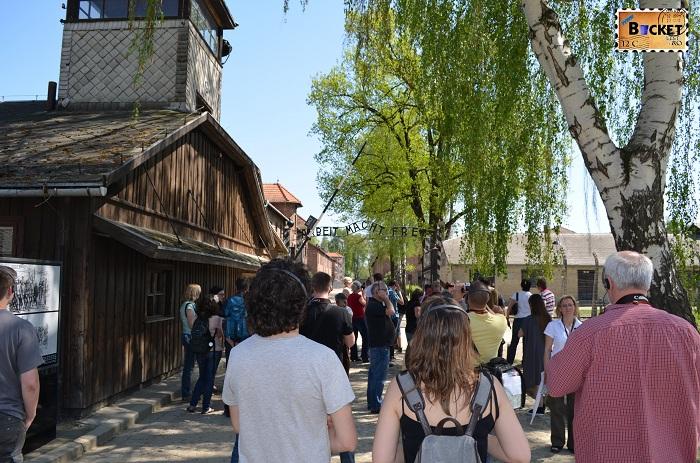 Auschwitz I  baraca SS-ului la intrarea din lagăr