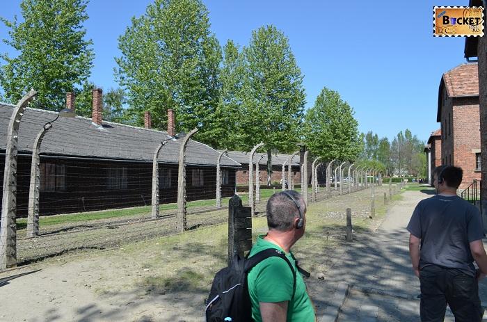 Auschwitz I  gard electrificat