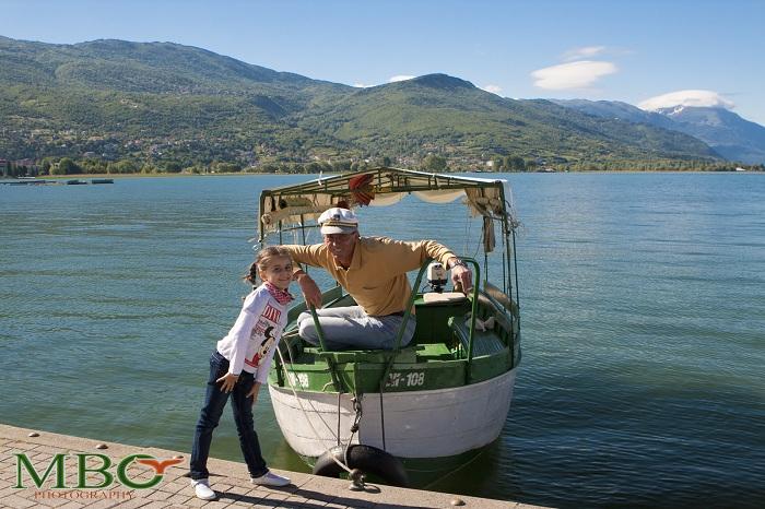 In Ohrid Macedonia cu barcagiul Bobi Nikolovski