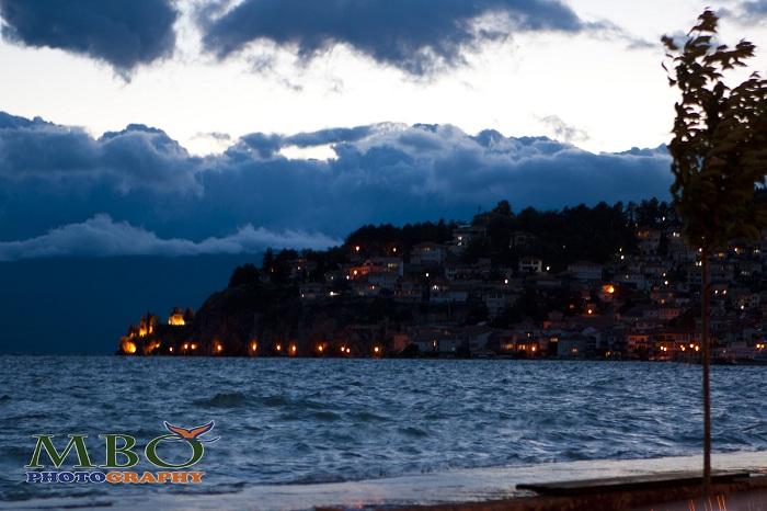 Lacul Ohrid Macedonia seara