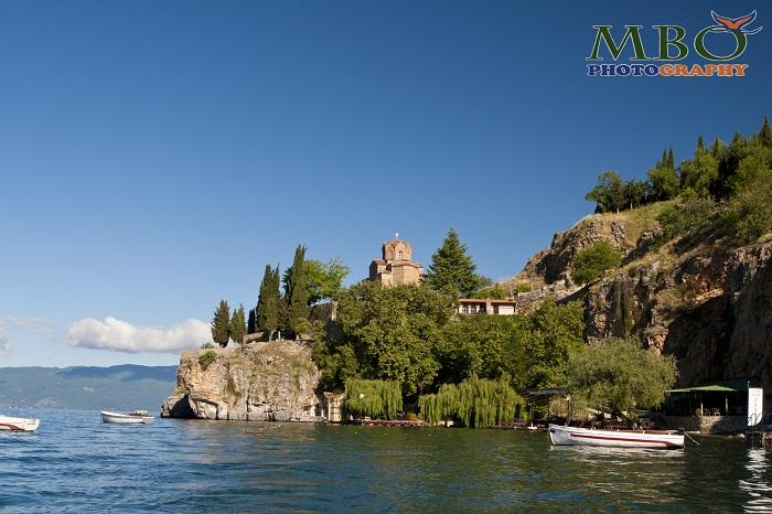 Lacul Ohrid din Macedonia, peisaje de dimineata