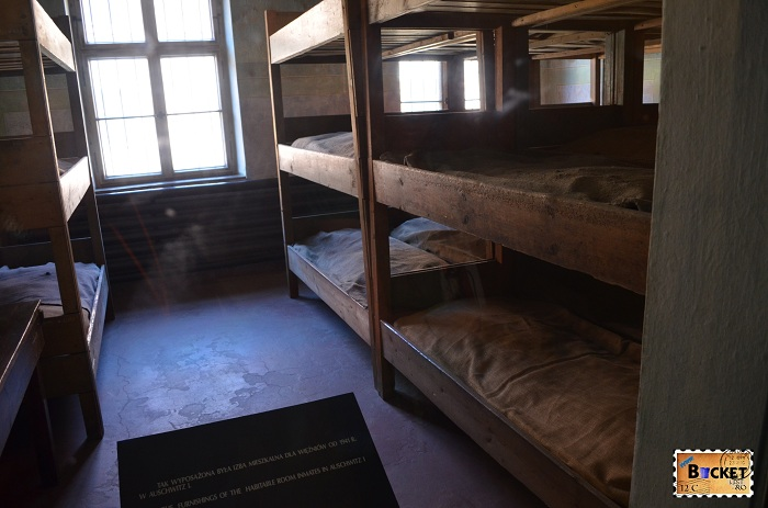 Lagărul Auschwitz I  - barca nr 11 celula The death block
