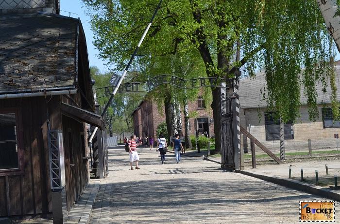 Lagărul Auschwitz I - intrarea principală