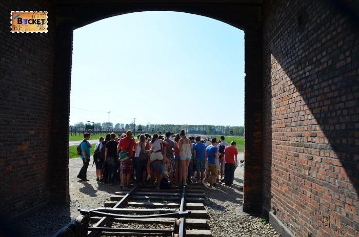 Lagărul de concentrare Auschwitz II - Birkenau - Poarta Morţii