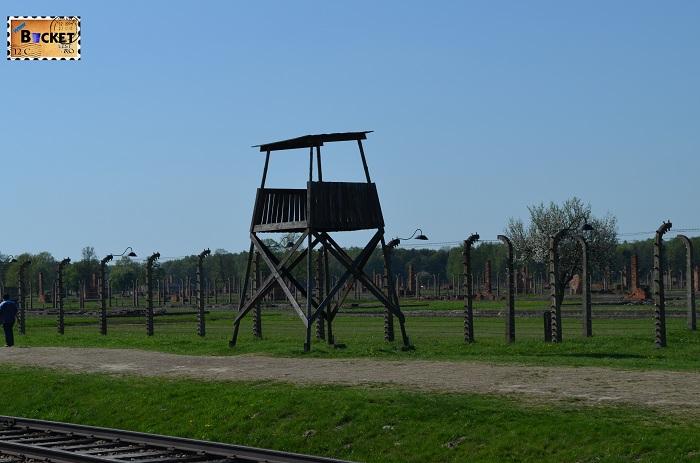 Lagărul de concentrare Auschwitz II - Birkenau - Turn de Veghere