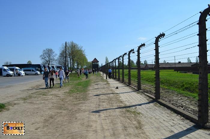Lagărul de concentrare Auschwitz II - Birkenau gard electrificat