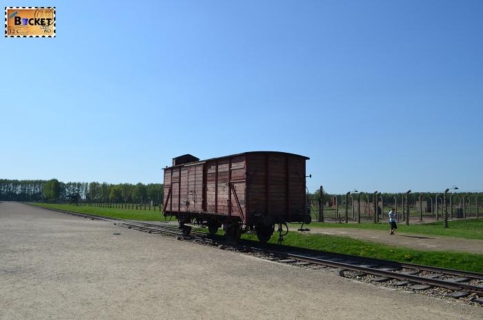 Lagărul de concentrare Auschwitz II - Birkenau - vagon de tren