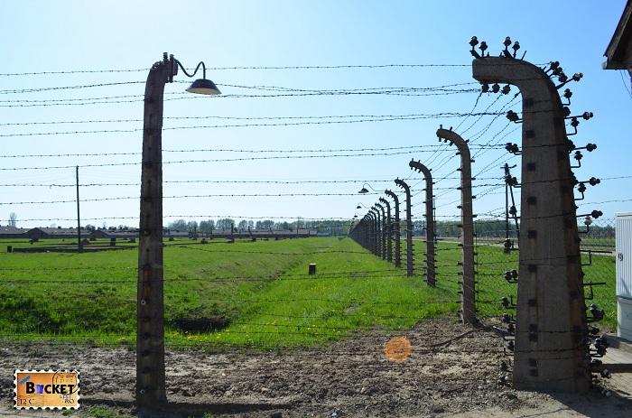 Lagărul de concentrare Auschwitz II - gard