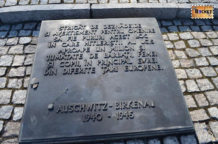 Lagărul de concentrare  Birkenau - Monument care omagiază victimele Holocaustului