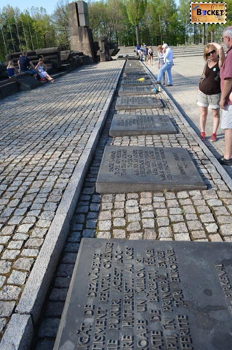 Monument care omagiază victimele Holocaustului - Birkenau