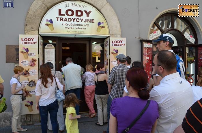 gelaterie foarte buna in Cracovia