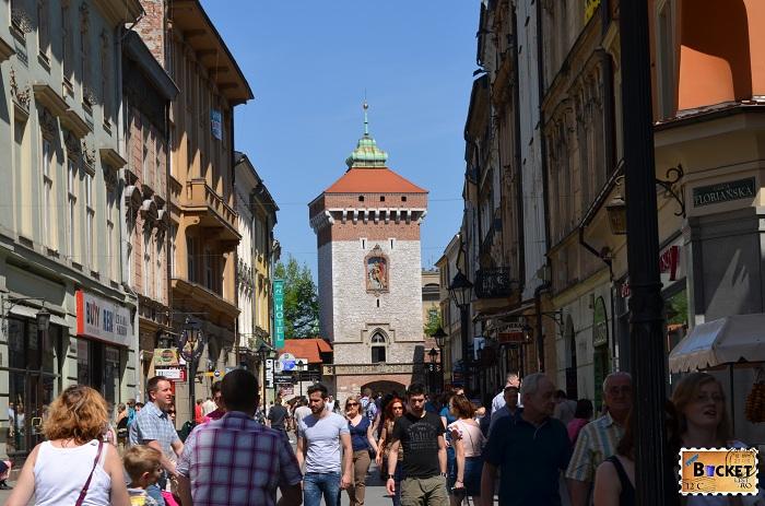 poarta Florian - Brama Floriańska Cracovia