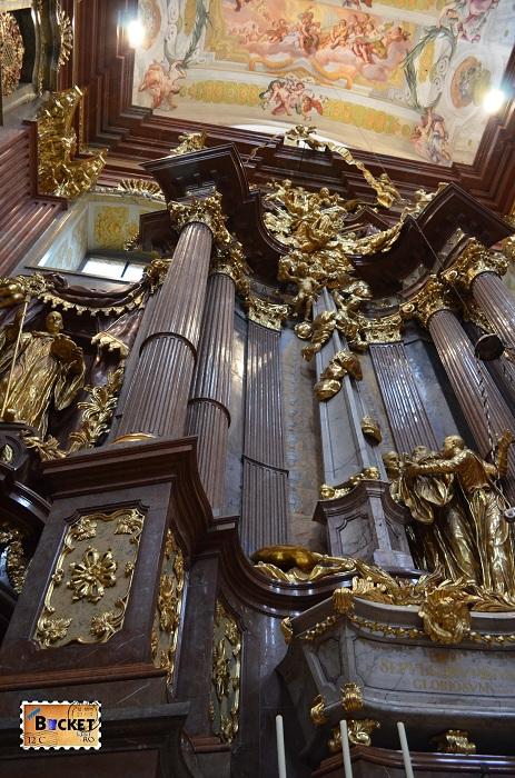 Interior biserică Abatia din Melk