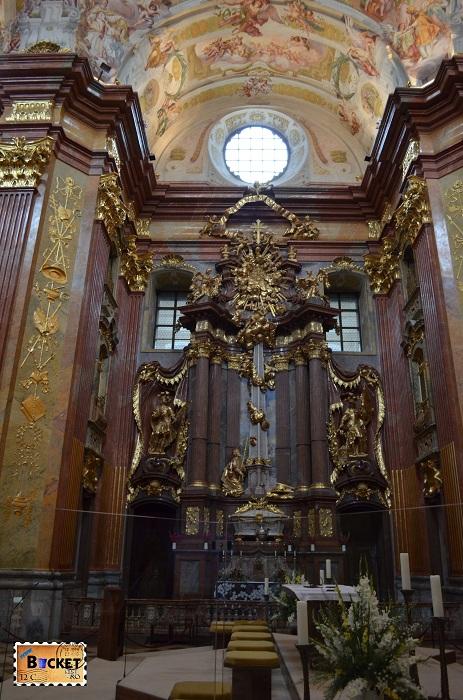 Abatia din Melk Interior biserică