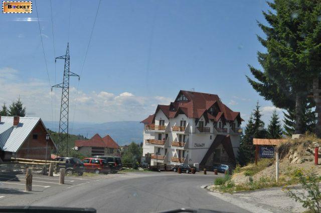 traseul  Brus - Kopaonik - Raška - Mateševo - Podgorica.
