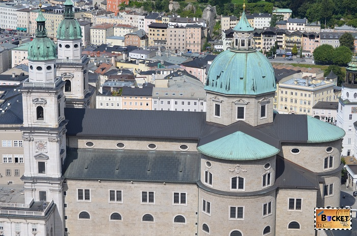Domul din Salzburg vazut din Hohensalzburg