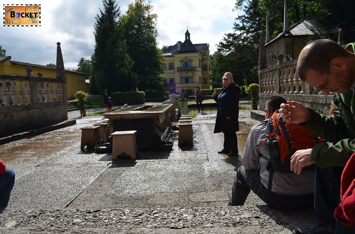 Hellbrunn Salzburg, Masa prinţului Furstentisch