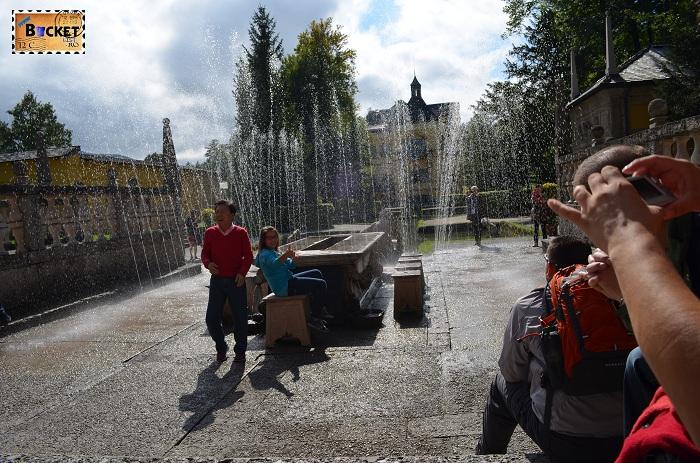 Hellbrunn Salzburg - jeturi de apa la masa printului