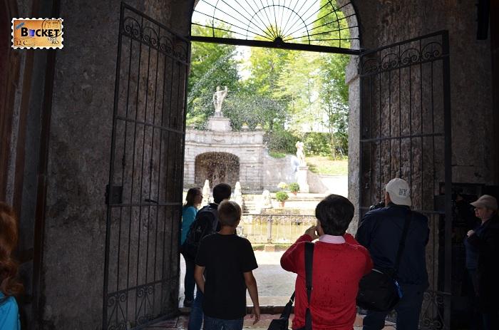 Salzburg - Palatul Hellbrunn iesire din grota