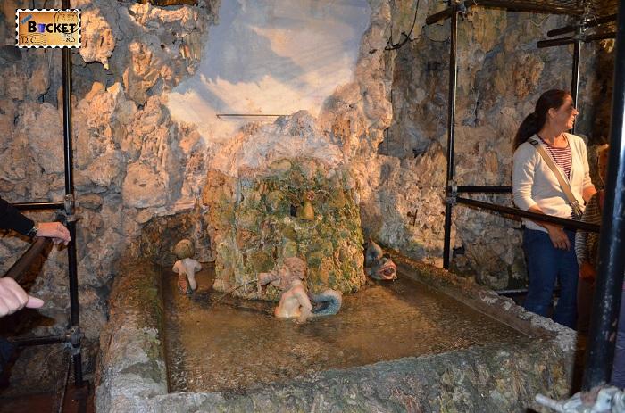 Salzburg - Palatul Hellbrunn elemente muzicale in grota