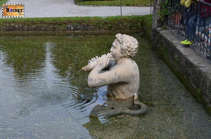 Salzburg - Palatul Hellbrunn Iaz