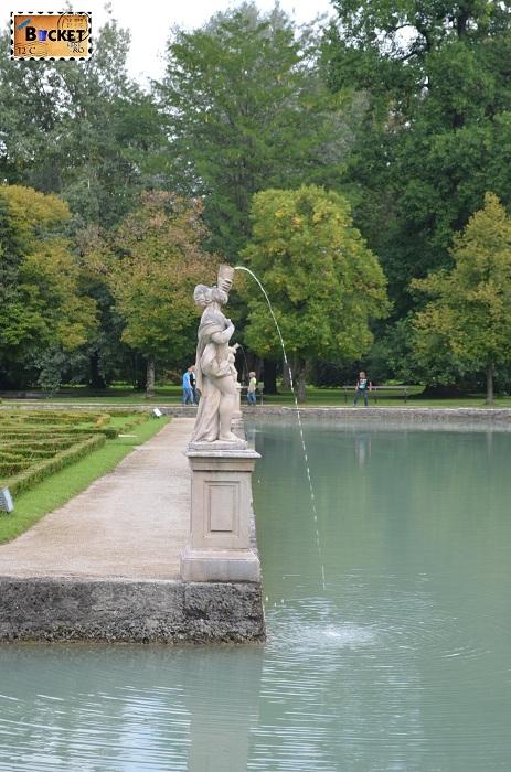 Lac si parc la Hellbrunn