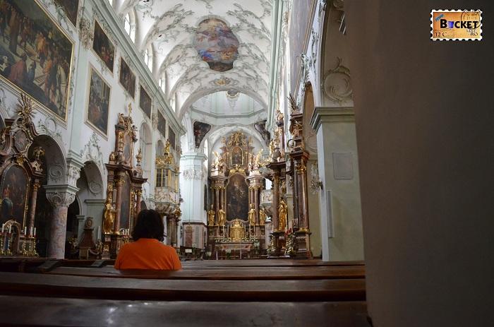 interior - biserica Sfântul Petru din Salzburg