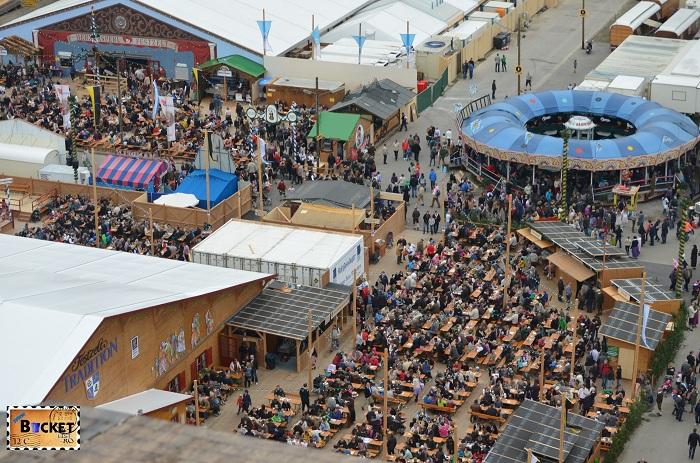 Oide Wiesn Oktoberfest Munchen vazut din Riesenrad - roata uriaşă