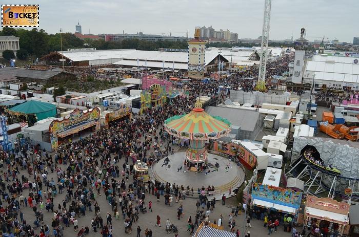 Oktoberfest Munchen privit din Riesenrad - roata uriaşă